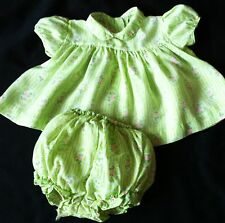 VTG FAWN TOGS BABY GIRLS 2 PC OUTFIT TOP/DRESS PLASTIC LINED DIAPER COVER 3 M