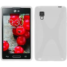 Coque en Silicone LG Optimus L4 II - X-Style blanc + films de protection