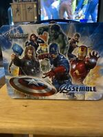Marvel Avengers Metal Tin Lunchbox Assemble Pencil Box NWT