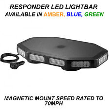 Responder LED Light Bar 330mm 12/24v Flashing Strobe Beacon like Whelen Woodway