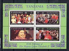 Tansania Briefmarken 1987 Königin Elisabeth II Mi.Nr. Block 64**