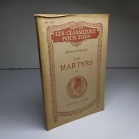 CHATEAUBRIAND 1947 Les Martyrs II Librairie HATIER littérature France N6840