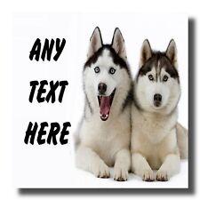 Husky Dogs Personalised Drinks Mat Coaster