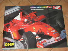 # POSTER MICHAEL SCHUMACHER FERRARI PENTA CAMPIONE MONDIALE 2002 CM.70X54 AC9