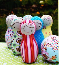 PATTERN - Bowling Buddies - fun soft toy PATTERN for babies & toddlers