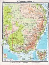 1961 MAP ~ SOUTH EAST AUSTRALIA ~ NEW SOUTH WALES ~ INSET TASMANIA
