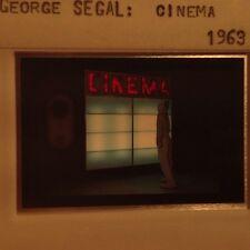 """George Segal """"Cinema 1963"""" 35mm Color Slide. Pop Art"""