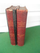 2 Vol. In Darkest Africa Henry Stanley Illustrated 1890 Scribner