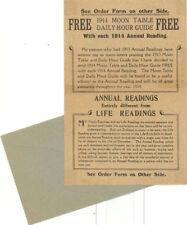 ORIGINAL 1914 PSYCHIC ASTROLOGY READING ORDER FORM ~ ROXROY ~ OCCULT