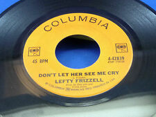 LEFTY FRIZZELL - Don't Let Her See Me Cry / James River - NEAR MINT- 1964