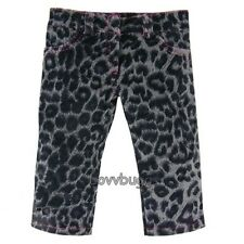 "Gray Animal Print Leopard Jeans Pants for 18"" American Girl Doll  Best Selection"