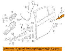 BMW OEM 11-16 535i xDrive Rear Door-Handle Outside Exterior Left 51217231929
