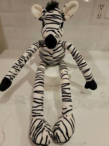 "FAO Schwartz Toys R Us Zebra Plush Long Sliding Adjustable Arms & Legs 16"" CUTE!"