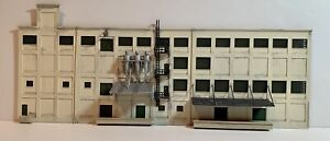 N Scale Built, Painted & Weathered Custom Kitbashed Industrial Building Flat