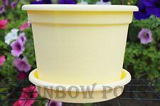 Plastic Plant Pot Flower Pots Decorative Colour Planters & Saucer Tray Wedding