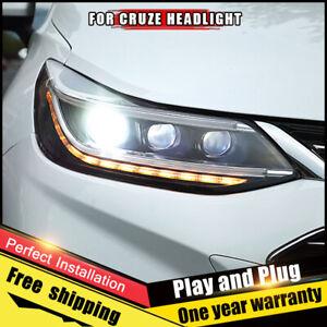 LED Headlights Assemblies For Chevrolet Cruze 2016-2019 LED Dynamic Turn Signal