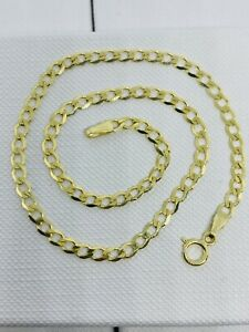 Genuine Solid 9ct Gold Curb Anklet 10 inch 3.5mm Width Uk Hallmarked