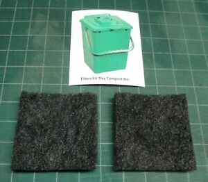 Filters for Exaco ECO 2000 compost pail - set of two filters - activated carbon