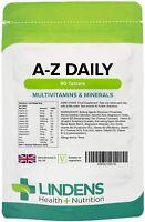 Complete A-Z Daily Multivitamin 90 Tablets Adults Men / Women Multi Vitamin