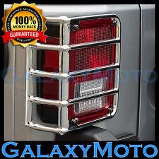 07-16 2016 Jeep JK Wrangler Rubicon Chrome Metal Euro Taillight Lamp Guard Cover
