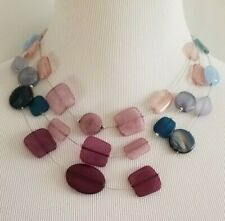 CHICO'S COOL-TONED MOSAIC ILLUSION NECKLACE