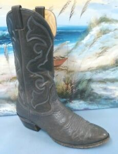 Nocona  Mens Western Cowboy Boot Gray leather Size 8.5 D   2502