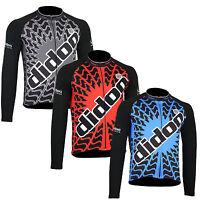 Didoo Men's New Fashion Thermal Fleece Winter Long Sleeve Cycling Biking Jersey
