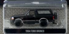 Black 1994 Ford Bronco rubber tires 1/64 scale diecast model car greenlight