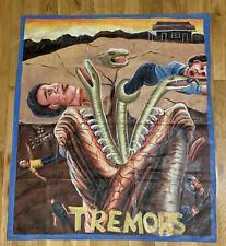 tremors ghana movie poster painting oil on floursack