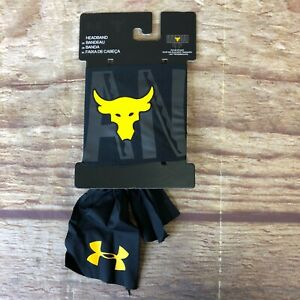 Under Armour Unisex One Size Black Project Rock Tie Headband NWT