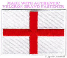 ENGLAND FLAG PATCH ST. GEORGE'S CROSS EMBROIDERED UK w/ VELCRO® Brand Fastener