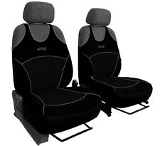 2 BLACK FRONT CAR SEAT COVERS SPORT FOR FIAT PUNTO