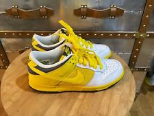 Nike Dunk Low White Trail Yellow Orchid Gridiron 2008 Petter Moore US 8.5