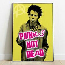 More details for punk's not dead print, sid vicious pop art print, sex pistols art print