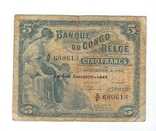 Belgian Congo - 5 Francs, 1947
