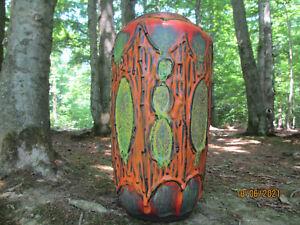 seltene 60er /70er FAT LAVA Keramik Vase in tollen Farben Scheurich 517-38 WGP