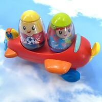 Weebles Wobblin Wings Airplane With 2 Weebles Hasbro Lot
