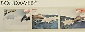 Vlieseline BONDAWEB 45cm WIDE TRANSPARENT IRON-ON ADHESIVE CARRIER Paper ORIGINA