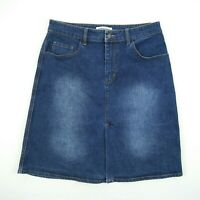 Country Road Knee Length Blue Stretch Denim Skirt Women's Size 10 W30 #60185168