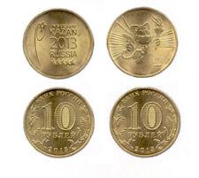 B-D-M Rusia Russia Set 10 Rubles 2013 Summer Universiade, Kazan - Mascot + Logo