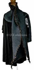 Large Scarf STOLE shawl 100% SILK pleated lady ELEGANT hipster chic midnight