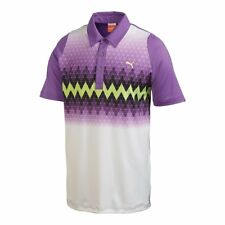 nwt~Puma Golf Performance DUO SWING GRAPHIC STRIPE CoolCell Polo Shirt~Mens sz L