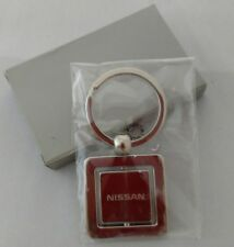 NISSAN Logo Chrome Spin Keychain Official New in Box