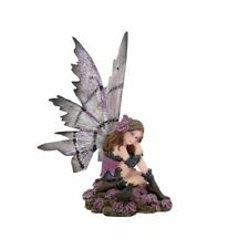 More details for heather fairy with blackbird 14cm high nemesis now faerie figure magical fantasy