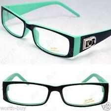 New Mens Womens DG Clear Lens Frames Glasses Rectangular Black Green Fashion RX