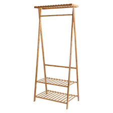 1~3 Tiers Shoe Clothing Storage Organizer Shelves Top Shelf Bamboo Rack Or Wheel