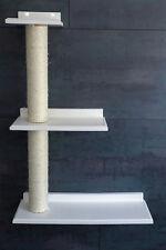 Wandbrett! Dreifach-Plattform, rechts ! Sisalstamm, Wandkratzbaum, weiß (rsr)