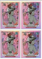 2014 Bowman Chrome Draft Marcus Wilson (4) Card Refractor Lot Red Sox Rookie RC