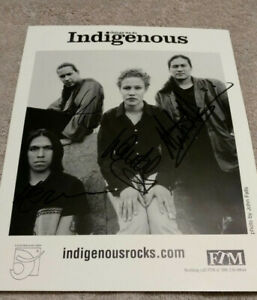 Indigenous Things We Do Promo Photo Autographed