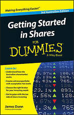 NEW Getting Started in Shares For Dummies Australia by James Dunn